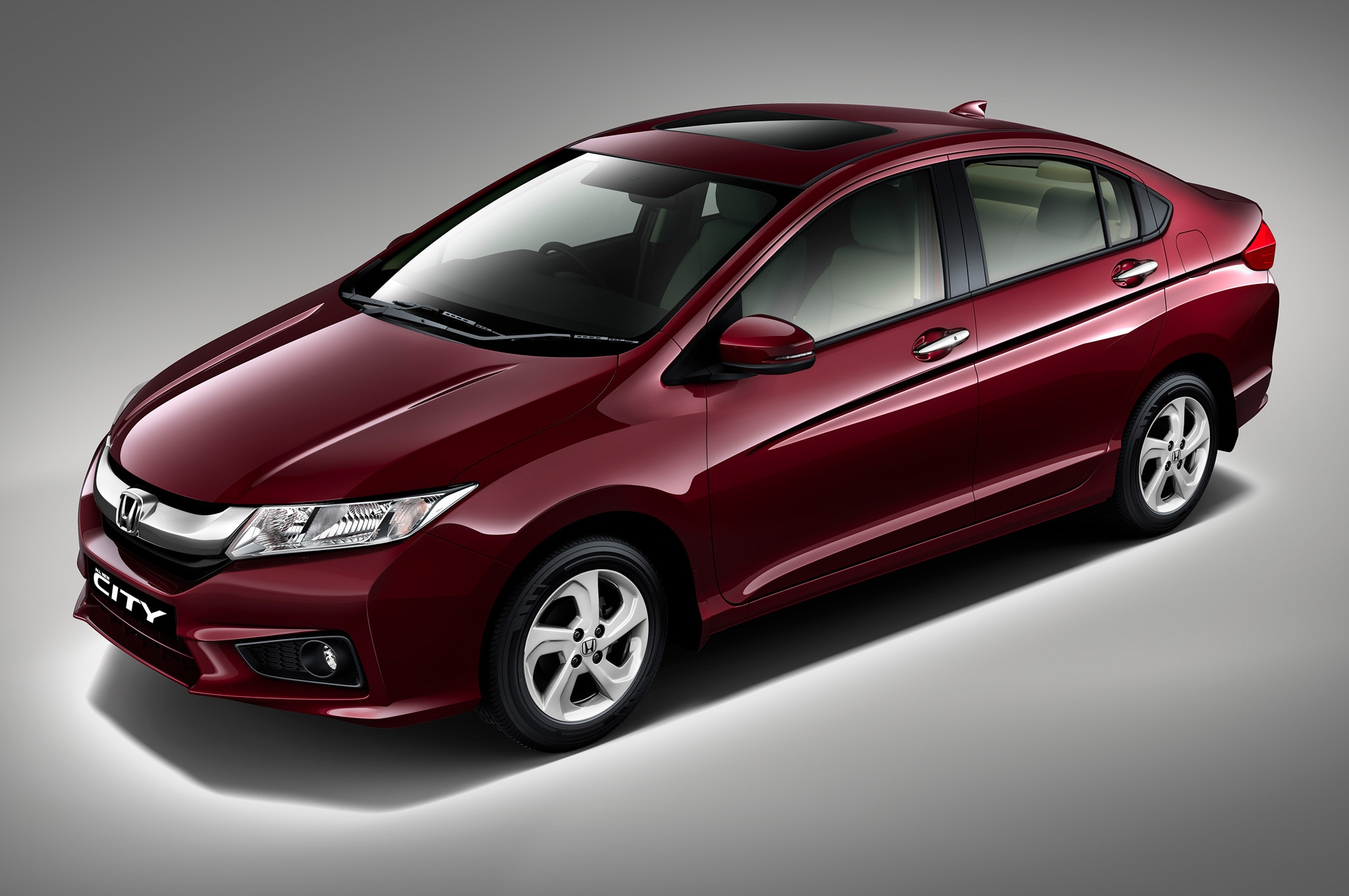 2015 Honda City Fit Sedan Front Three Quarters View1